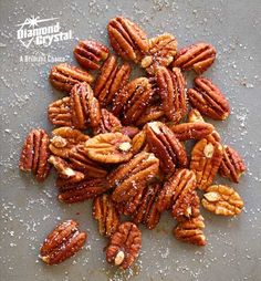 Looking for an easy and simple appetizer recipe? Try these spiced pecans with Diamond Crystal® Kosher Salt! Holiday Appetizers, Appetizer Recipes, Holiday Recipes, Great Recipes, Snack Recipes, Cooking Recipes, Favorite Recipes, Yummy Snacks, Healthy Snacks