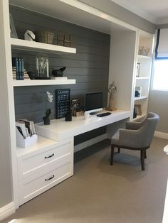 Tiny Home Office Design Ideas. Therefore, the demand for home offices.Whether you are planning on adding a home office or restoring an old area into one, here are some brilliant home office design ideas to aid you get going. Home Office Space, Home Office Design, Home Office Decor, Tiny Office, Office Nook, Basement Office, Office Room Ideas, Office Designs, Closet Office