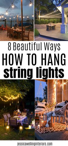 Backyard Party Lighting, Outdoor Tree Lighting, Outdoor Trees, Outdoor Life, Hanging Patio Lights, Backyard String Lights, Lights Hanging From Trees, Lights On Deck, Outside Patio