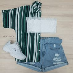 Cute Casual Outfits, Cute Summer Outfits, Retro Outfits, Stylish Outfits, Teenage Outfits, Teen Fashion Outfits, Outfits For Teens, Mode Costume, Pyjamas