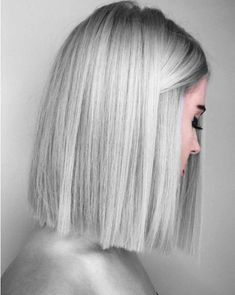lob, long bob, dyed length hair, silver hair, straight cut bob, one length hair, blunt bob, 2018 hair inspiration, 2018 hair trends