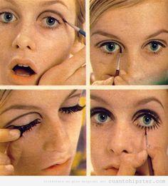 Tutorial maquillaje años 70 Twiggy