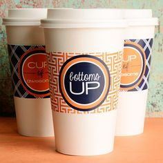 Make your cup the cutest with these modern & preppy free printable coffee cup sleeves.