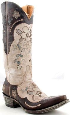 Womens Old Gringo Bonnie Vesuvio Boots Bone #L649-2