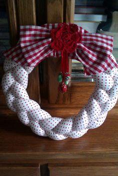 Braided Fabric Wreath