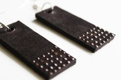 Dark Brown on Brown Leather Dangle by handmadecre8tivesoul on Etsy, $15.00