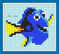 MINECRAFT PIXEL ART – One of the most convenient methods to obtain your imaginative juices flowing in Minecraft is pixel art. Pixel art makes use of various blocks in Minecraft to develop pic… Easy Perler Bead Patterns, Fuse Bead Patterns, Perler Bead Art, Cross Stitch Patterns, Graph Paper Drawings, Graph Paper Art, Nemo Y Dory, Pixel Art Minecraft, Pixel Drawing