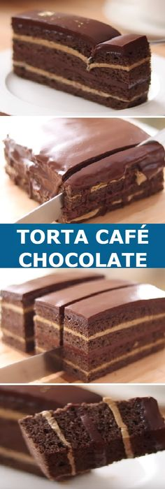 "Torta de café con Chocolate my Coffee Cake & Chocolate "" By HidaMari Cooking "" Si te gusta dinos HOLA y dale a Me Gusta MIREN … Cheesecake Recipes, Dessert Recipes, Cream And Fudge, Chocolate Dreams, Cake Chocolate, Chocolate Coffee, Gateaux Cake, Coffee Cake, No Bake Cake"