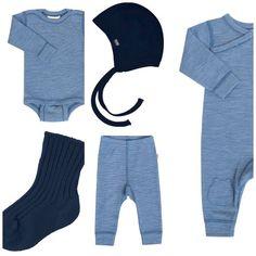 Joha babytøjsstartpakke - blå Joha uld tøj