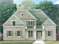Eplans House Plan: With New England charm, this early American Cape Cod home is a quaint haven for  any family. Enter from the porch to the foyer, which opens to the dining area  and great room. The great room is illuminate