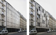 The residences on Rue Championnet were built during the Haussmann era of the mid-19th century, with each structure mimicking the appearance of the next.