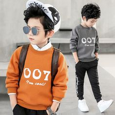 2018 Spring Warm Shirt for Boys Plus Velvet Sweatshirts for Boys Warm Outerwear Clothes T Shirt Kids Boys Sweatshirts Toddler Outfits, Baby Boy Outfits, Kids Outfits, Stylish Little Girls, Cute Sleepwear, Kids Clothes Patterns, Kids Fashion Photography, Trendy Baby Clothes, Girls Pajamas
