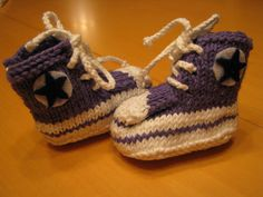 Elora's chucks 006 by ladylaw800, via Flickr- Free Pattern on Ravelry!