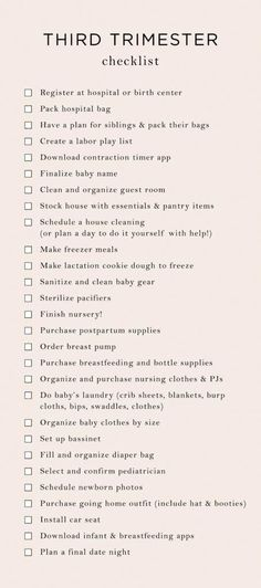 Everything On My Trimester To-Do List - The Mama Notes - Baby prep - Getting Ready For Baby, Preparing For Baby, Before Baby, After Baby, Mama Notes, 3. Trimester, 3rd Trimester Pregnancy, Baby Planning, Everything Baby