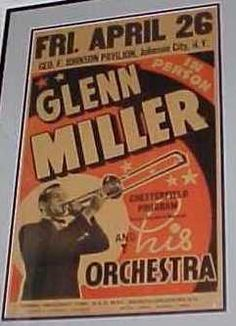 Glen Miller Glen Miller, The Glenn, Vintage Concert Posters, 40s Style, Cool Jazz, All That Jazz, Handsome Actors, Band Posters, Music Is Life