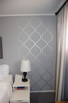 Not this particular stencil, but I like the glossy stencil over the matte paint of the same color for the wall.