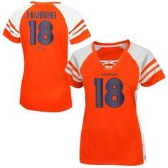 Denver Broncos orange Majestic Ladies OFFENSE Top