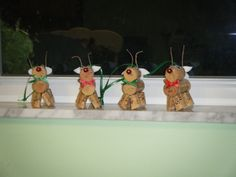 Wine Cork Christmas Crafts | Wine cork reindeer ornaments: