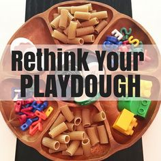 "Rather than using the traditional Play-doh supplies, expand your toddler and preschooler's creativity by placing ""loose Parts"" on the table for them to explore with with the homemade playdough. What are loose parts? Find out here. Best Playdough Recipe, Homemade Playdough, Playdough Activities, Preschool Activities, Steam Activities, Indoor Activities, Therapy Activities, Infant Activities, Summer Activities"