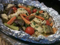Receita de Papelote de frango com legumes - Tudogostoso