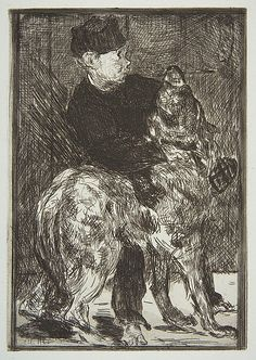 Édouard Manet (French, 1832–1883). Boy and Dog (L'Enfant et le Chien), 1862. The Metropolitan Museum of Art, New York. Rogers Fund, 1921 (21.76.7) #dogs