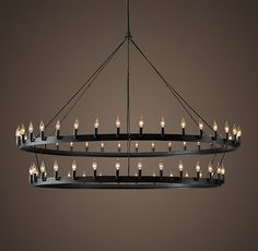 Urban Loft Industrial Circular Chandelier - possibly for the ...