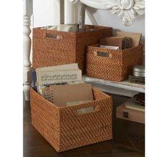 Set of 3 Rattan Baskets