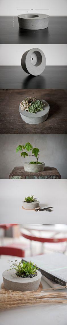 Joli pot à plante en béton | DIY: Concrete planter #planter #concrete #DIY
