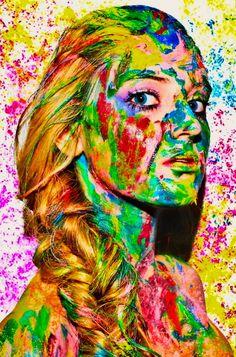 #summer #hispanic #makeup #hair #blonde #fashion  #model #photography #modeling #cuban #photoshoot #paint #acrylic