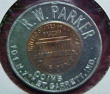 1963-D Encased Cent Penny R. W. Parker Coins Garrett Indiana IN Ind.