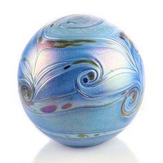 Grote Kristalglazen Bol-Urn Elements Line Blue (4 liter)