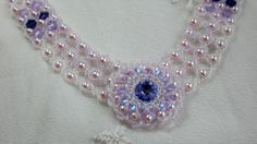 Crystal Beadwoven Lavender Choker Unique Jewelry от SpringColors
