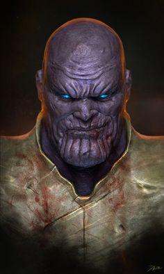Les super-héros illustrés d'Adnan Ali - Thanos