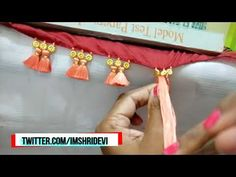 Hello everyone, I am Shridevi and welcome to my channel Ladies Club. In this video you will learn how to make saree kuchu baby kuchu with flower beads. Saree Tassels Designs, Saree Kuchu Designs, Saree Blouse Neck Designs, Bridal Blouse Designs, Rangoli Designs, Mango Mala Jewellery, Saree Embroidery Design, 1st Birthday Dresses, Silk Bangles