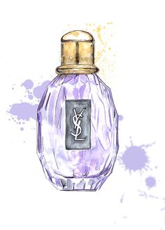 Sketch a day inspiration day 47~ A bottle  YSL Parisienne perfume illustration