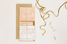 Sarah + Justin Wedding Invitation Suite | JayAdores