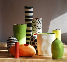 davistudio pottery Blobs and Cylinders