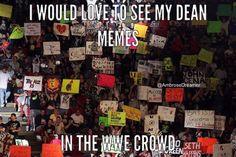 Dean Ambrose- in wwe crowd Le Shield, Dean Ambrose, Seth Rollins, Roman Reigns, The Dreamers, Wwe, Crowd, Wrestling, Fan Art
