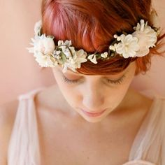 Flower crown with short hair!