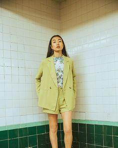 "ArticleAnd on Instagram: ""It's easy being (pistachio) green"" Pistachio Pudding, Pistachio Green, Style Inspiration, Blazer, Easy, Jackets, Apparel Design, Instagram, Women"