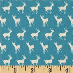 Moda Oh Deer! Tiny Deer Bright Sky