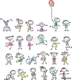 Find Cute Happy Cartoon Kids stock images in HD and millions of other royalty-free stock photos, illustrations and vectors in the Shutterstock collection. Thousands of new, high-quality pictures added every day. Doodle Drawings, Cartoon Drawings, Easy Drawings, Doodle Art, Doodle Kids, Happy Cartoon, Cartoon Kids, Cartoon Drawing For Kids, Fingerprint Art