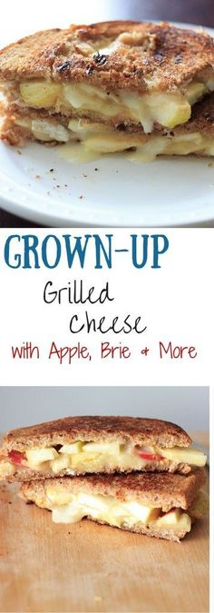 Grown up grilled cheese with two sauces, two types of cheese, and two kinds of fruits (including tomato). Loaded with flavor!