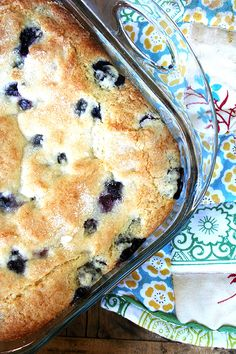 A most delicious way to start the morning. Buttermilk and lots of blueberries make this cake super moist. Lemon adds a lovely flavor.