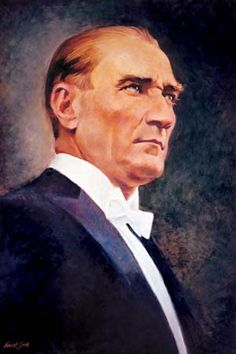 Mustafa Kemal Ataturk, first president of the Republic of Turkiye. Ataturk fought hard to make Turkiye a secular democratic modern nation.