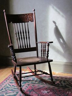 Irish folk belief claims that if you set an empty rocking chair rocking, you invite evil spirits to occupy the empty seat.