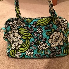 Vera Bradley Purse - Island Blooms Purse only used a few times and in good condition no staining or discoloration on the fabric. Comes with a strap but it's not long enough to wear cross bodied. Vera Bradley Bags