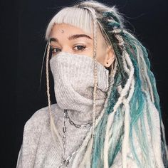 White Girl Dreads, Dreads Girl, Short Dreads, Undercut Long Hair, Dread Braids, Dreadlocks, Colored Dreads, Double Ended Dreads, Hippie Hair