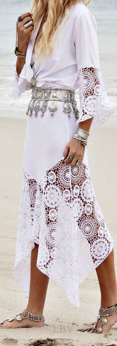 Boho + lace, belt, slave bracelet. Bohemian boho style. For more follow www.pinterest.com/ninayay and stay positively #pinspired #pinspire @ninayay