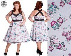 Hell Bunny PLUS SIZE Super Sweet Dress Retro Rockabilly Cupcake Pony Polka Dot